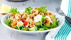 Marinoitu linssisalaatti