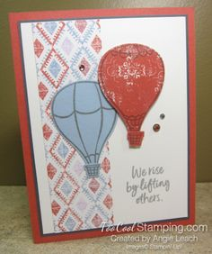 stampin up above the clouds Flower Outline, Rose Images, Color Club, Above The Clouds, Flower Center, Flower Stamp, Basic Grey, Card Sketches, Hot Air Balloon