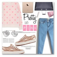 """""""Pink"""" by makeupgoddess ❤ liked on Polyvore featuring Superga, Christian Dior, women's clothing, women's fashion, women, female, woman, misses and juniors"""