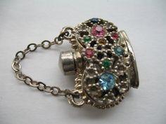 Vintage Vial Perfume Bottle Charm Pendant by GlamourGirlsLingerie, $50.00