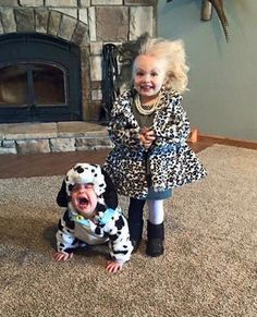 Cruella and her dalmatian. (photo via drek258)
