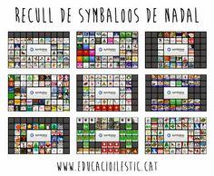 Recull de Symbaloos de Nadal Spanish Teacher, Kids Christmas, Tic Tac, Internet, Ideas, Art, School, Initials, Winter