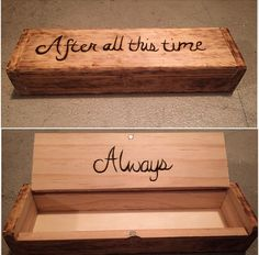 After all this time... Always. Harry Potter quote wood burned box.