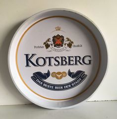 Vintage Original Kotesberg Bear Beer Advertisement Round Serving Tin Tray Plate