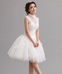 시스루 주름 드레스