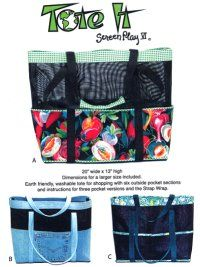 Screen tote bag patterns.  This is my favorite design to make totes from pet screen. Made lots and lots of them.