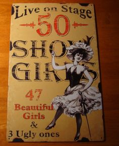 Live on Stage 50 Show Girls- 47 beautiful ones and 3 ugly ones