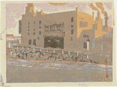 Setting Sun at Tokyo Theatre (#35), 12/1/1931, Onchi Koshiro