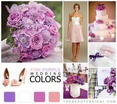 Pink Purple wedding color palette