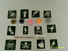 24 Mini-Tattoos * Pirat Pit Planke * von LUTZ MAUDER // 47302 // Piraten Pirates Geschenk Tattoo Kindertattoos Piratenjunge