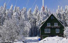 Wonderful snowy landscape at Torfhaus (Harz) in march 2013.