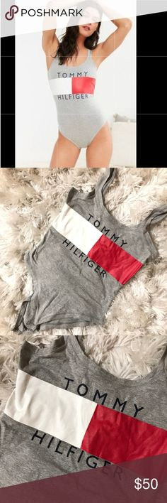 Tommy Hilfiger bodysuit Worn once, perfect condition. Could fit a Small too Urban Outfitters Tops Tank Tops