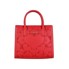 Buy Love Moschino Red Leather Handbag for Women at Fashiontage. Moschino, Cristiano Ronaldo Underwear, Red Handbag, Luxury Bags, Fashion Bags, Red Fashion, Red Leather, Dust Bag, Shoulder Bag