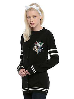 Harry Potter Hogwarts Girls Cardigan, BLACK
