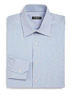 Saks Fifth Avenue Collection Regular-Fit Bengal Stripe Dress Shirt - L