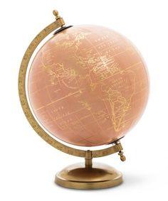Pink & Gold Globe #zulily #zulilyfinds