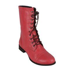 Reneeze Combat Low Heel Knight Military Women Ankle Boot British Style Mid Calf | eBay