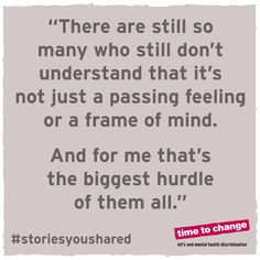 A powerful blog about one girl's experience opening up about #depression. #timetotalk