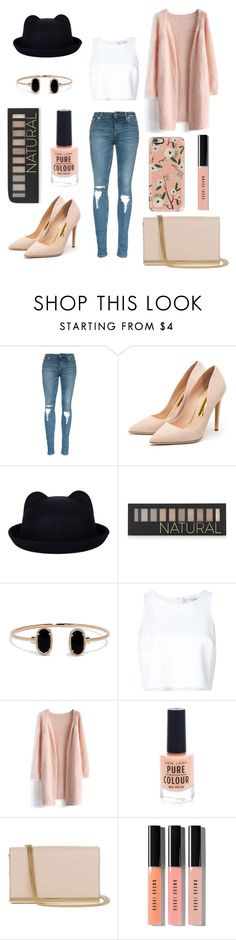 """""""black & peach outfits"""" by therealnajwa on Polyvore featuring Rupert Sanderson, Forever 21, LULUS, Carolina Herrera, Chicwish, New Look, Diane Von Furstenberg, Bobbi Brown Cosmetics and Casetify"""