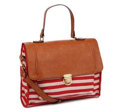 Monoprix striped nautical-style satchel