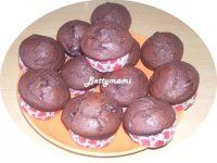 Csokis muffin | Betty hobbi konyhája Muffin, Hobbit, Sausage, Meat, Fruit, Breakfast, Food, Morning Coffee, Sausages