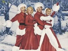 "A publicity image for the 1954 film ""White Christmas"", starring Bing Crosby, Danny Kaye, Rosemary Clooney and Vera-Ellen. Christmas Song Trivia, Top 10 Christmas Movies, White Christmas Movie, Merry Christmas, Christmas Love, Vintage Christmas, Holiday Movies, Christmas Classics, Christmas Music"
