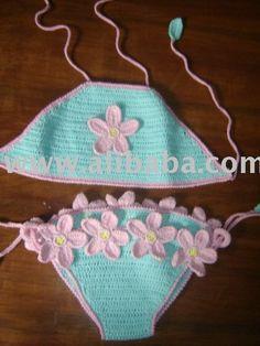 bikinis de ganchillo para las niñas jóvenes-Traje de baño & ropa de…