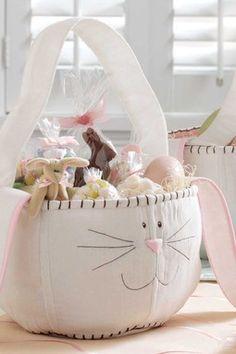 Bunny Easter Basket. So adorable.