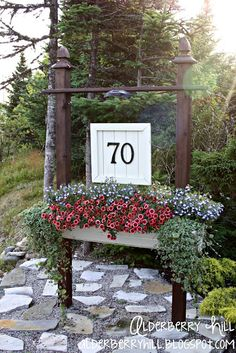 House Number Sign....Love This...... For the corner of our property