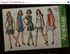 30%OffPatterns Simplicity 8684 1970s 70s by EleanorMeriwether