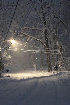 Snow in Pittsburgh. Nothing as quiet as a snowy night. Winter Szenen, I Love Winter, Winter Magic, Winter Christmas, Retro Christmas, Christmas Christmas, Snowy Day, Snow Scenes, Winter Beauty