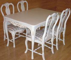 Jurvalainen talonpoikaisrokokoo ruokailuryhmä Finland, Dining Chairs, Southern, Table, Furniture, Beauty, Design, Home Decor, Decoration Home