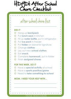 After-School-Chore-Checklist2.jpg 1,500×2,100 pixels