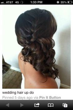 Hair for Tandi's wedding