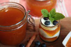 Zemitá chuť dýňového džemu v harmonii s jogurtem Yami Yami, Eclairs, Sweet Desserts, Pumpkin Recipes, Kitchen Hacks, Food To Make, Panna Cotta, Chicken Recipes, Spices