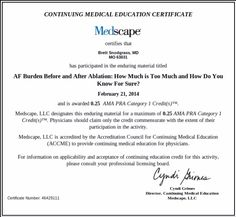 0.25 AMA PRA category one continuing medical education credits. #CME #AMA