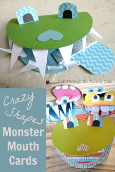 These super cute Monster Mouth Cards are a great rainy day activity and will bring a smile to the face of any recipient.