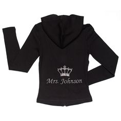 Personalized Mrs. King Hoodie With Crown