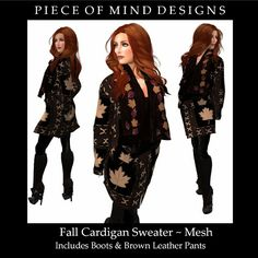 Piece of Mind Designs,Black Haus White Market: Fall Blanket Sweater MESH - Piece of MInd Designs