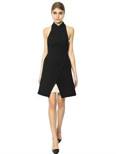 Proenza Schouler | NAPPA LEATHER & WOOL DRESS ($2,970)