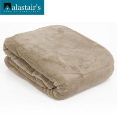 Alastairs Micro Loft Blanket Latte QB