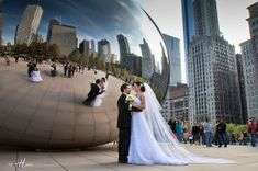 Brides can take advantage of Chicago's amazing landmarks for their big day.