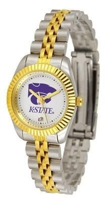 Kansas State Wildcats KSU NCAA Womens 23Kt Gold Watch by SunTime. $134.95. Women. Links Make Watch Adjustable. Officially Licensed Kansas State Wildcats Women's Two-Tone Executive Watch. 23kt Gold-Plated Bezel. 2-Tone Stainless Steel Band. The ultimate fans statement our Ladies Executive timepiece offers women a classic business-appropriate look. Features a 23kt gold-plated bezel stainless steel case and date function. Secures to your wrist with a two-tone solid stain...