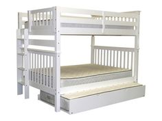 Bunk Bed Full over Full End Ladder White with Trundle for only $732