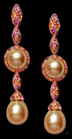 pearls.quenalbertini: de Grisogono Earrings | beauty bling jewelry fashion