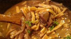 Crock Pot Beef & Noodles :http://slowcookerkitchen.com/crock-pot-beef-noodles/