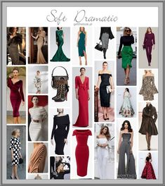 Soft Dramatic style moodboard - getthelook.pl