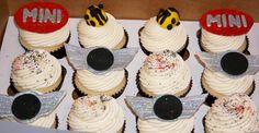 Mini Cooper cupcakes Cupcakes, Cake Designs, Yummy Treats, Tasty, Drink, Desserts, Food, Tailgate Desserts, Cupcake Cakes