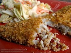 Almond Crusted Fish- paleo/gf...and oh so yummy!  Imagine with halibut, tilapia, cod.....