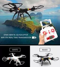 drone lançamento quadricóptero syma x8w c/ câmera fpv
